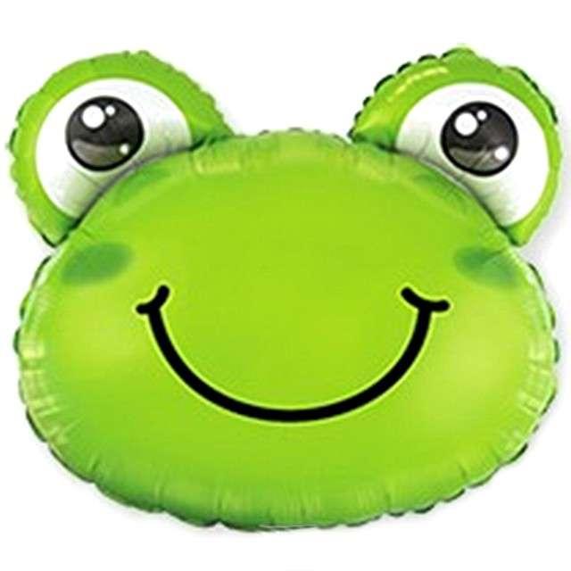 Balon foliowy Wesoła żaba zielony Flexmetal 14 SHP