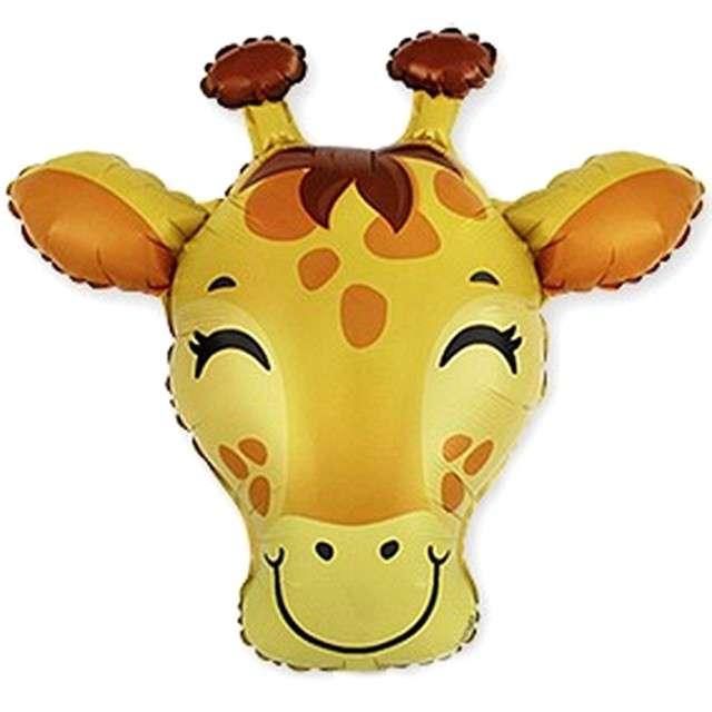 """Balon foliowy """"Nieśmiała żyrafa"""", żółta, Flexmetal, 10"""", SHP"""