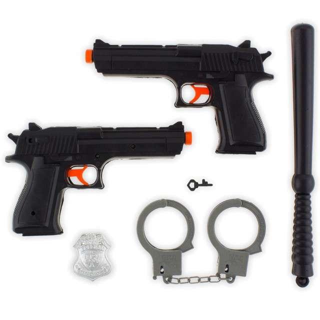 Zestaw Policjanta: 2 pistolety i pałka GODAN