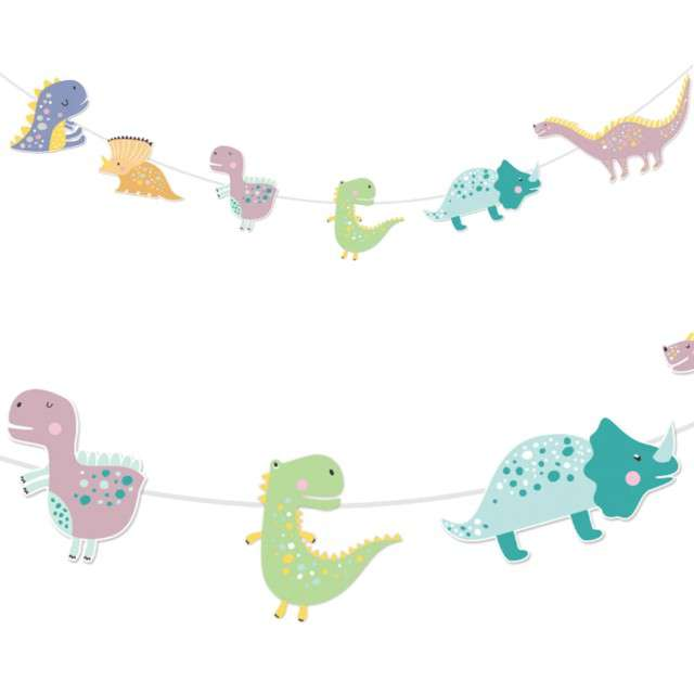 "Baner ""Dinozaury"", kolorowe, PartyPal, 300 cm"