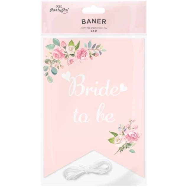 Baner Wieczór panieński - kwiaty różowy PartyPal 250 cm