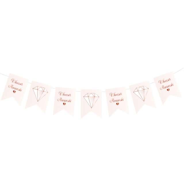 Baner Wieczór panieński - chorągiewki różowy PartyPal 250 cm