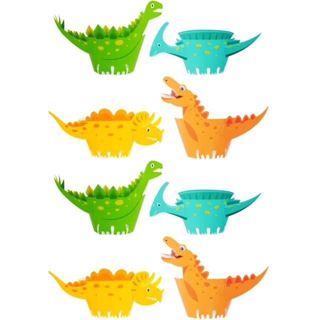 """Foremki na muffinki """"Dinozaury"""". mix, PartyPal, 8 sztuk"""