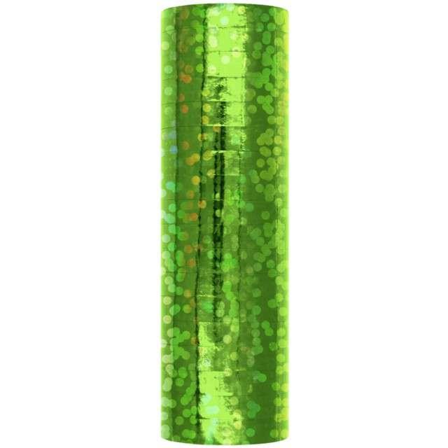 Serpentyna Holograficzna zielona PartyPal 18 rolekq