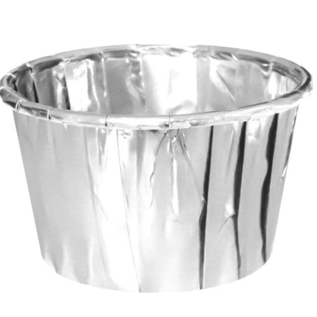 "Foremki na muffinki ""Metaliczne"", srebrne, PartyPal, 20 szt"
