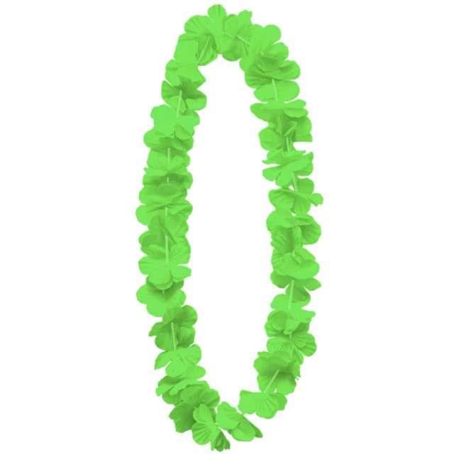 """Naszyjnik hawajski """"Kwiaty"""", zielony, PartyPal, 100 cm"""