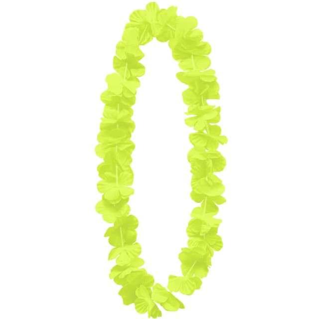 """Naszyjnik hawajski """"Kwiaty"""", żółty, PartyPal, 100 cm"""
