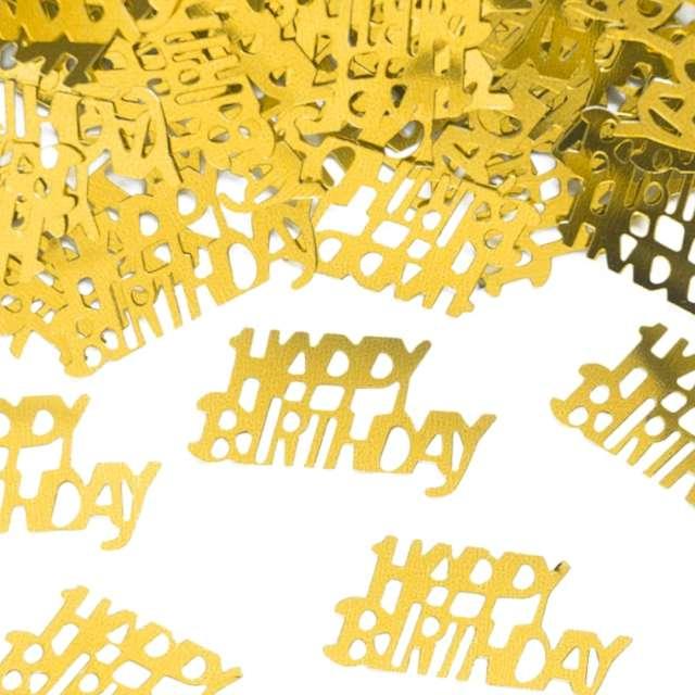 Konfetti Happy Birthday złote PartyPal 15 g