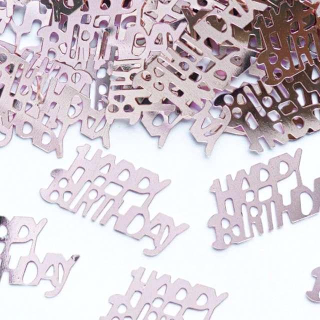 Konfetti Happy Birthday złoty róż PartyPal 15 g
