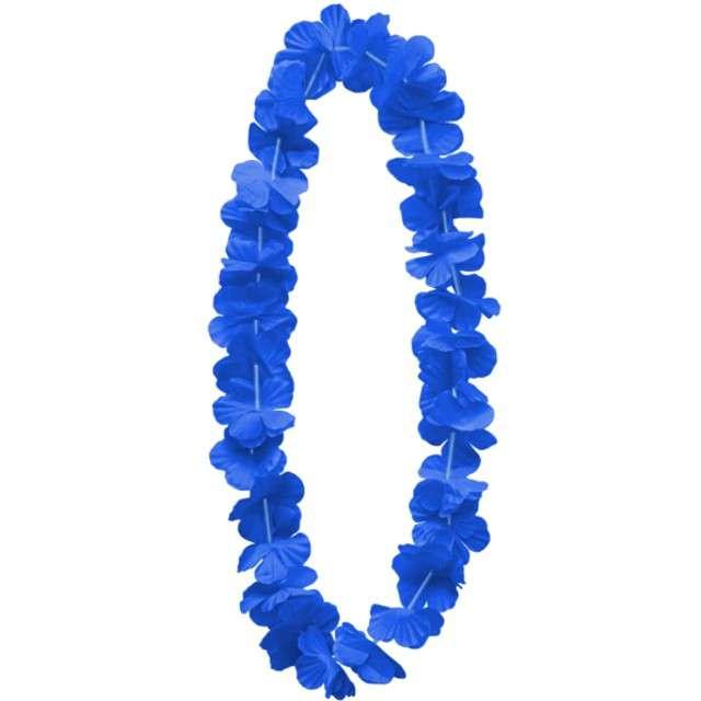 """Naszyjnik hawajski """"Kwiaty"""", niebieski, PartyPal, 100 cm"""