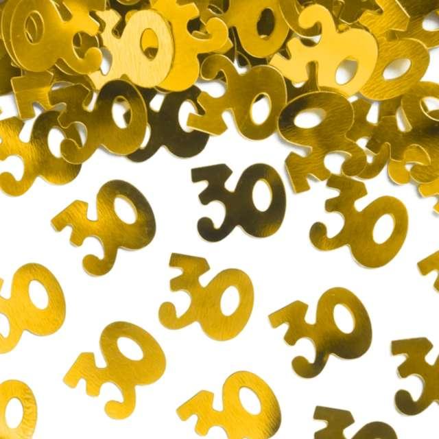 Konfetti 30 urodziny złote PartyPal 15 g