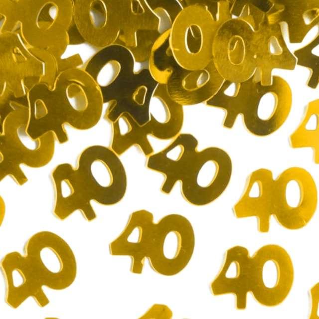 Konfetti 40 urodziny złote PartyPal 15 g