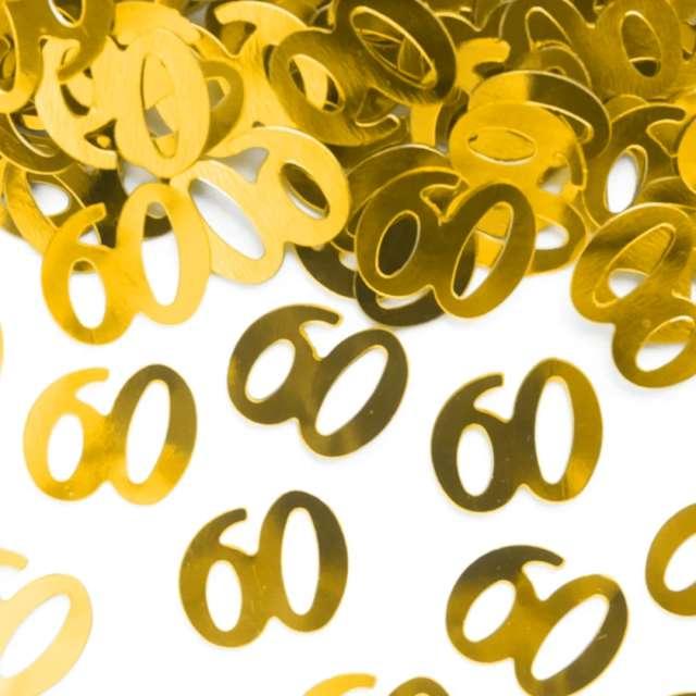 Konfetti 60 urodziny złote PartyPal 15 g