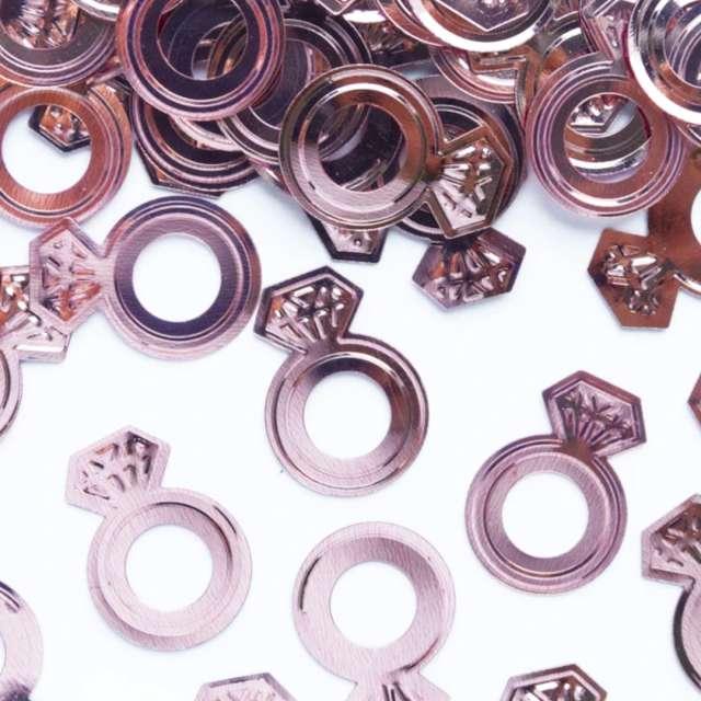 Konfetti Diamentowy Wieczór Panieński rose gold PartyPal 15 g