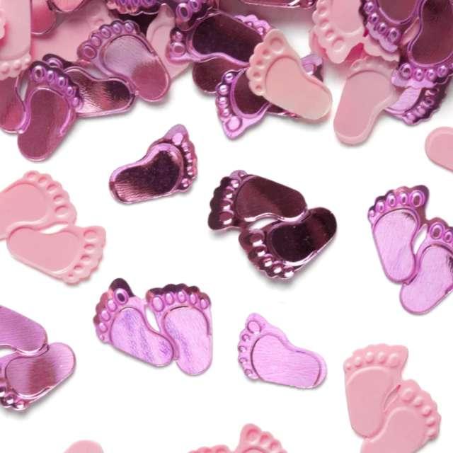 Konfetti Baby Shower - różowe stópki PartyPal 15 g