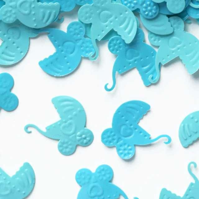 Konfetti Baby Shower - błękitne wózki PartyPal 15 g