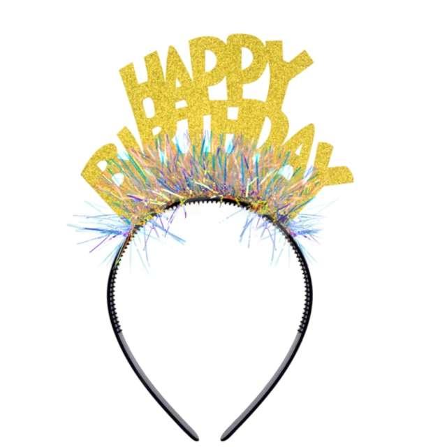 """Opaska party """"Urodziny - Happy Birthday"""", kolorowa, PartyPal"""