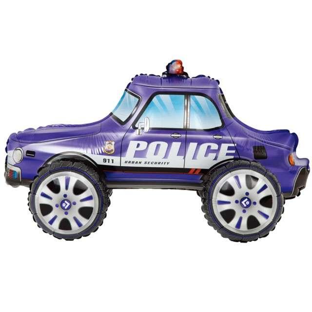 """Balon foliowy """"Samochód Policyjny"""", granatowy, PartyPal, 26"""" SHP"""