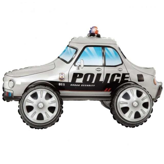 """Balon foliowy """"Samochód Policyjny"""", srebrny, PartyPal, 26"""" SHP"""