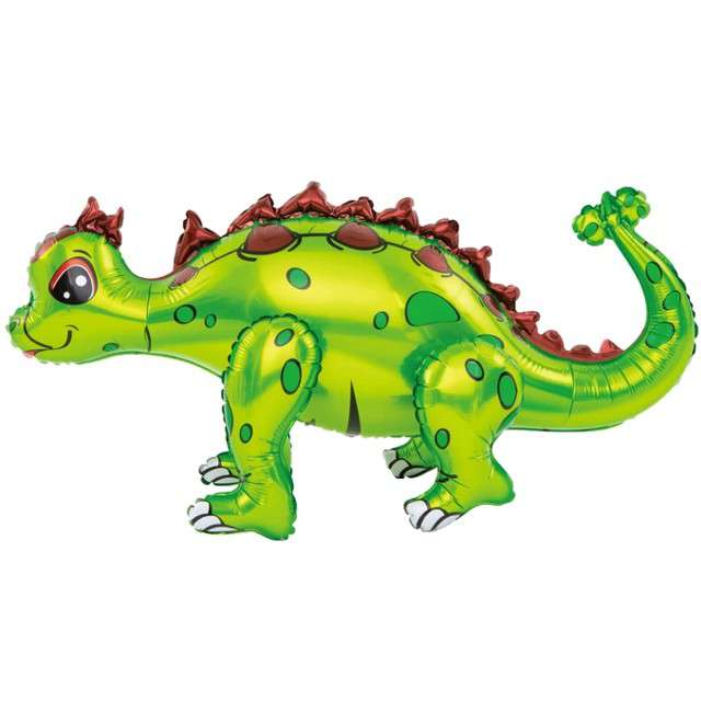 "Balon foliowy 3D ""Dinozaur plamiasty, zielony"", PartyPal, 29"" SHP"