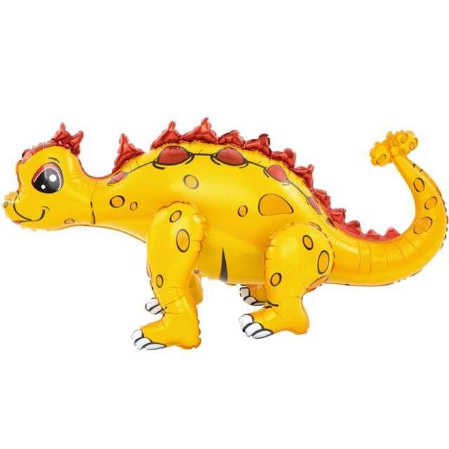 """Balon foliowy 3D """"Dinozaur plamiasty, żółty"""", PartyPal, 29"""" SHP"""