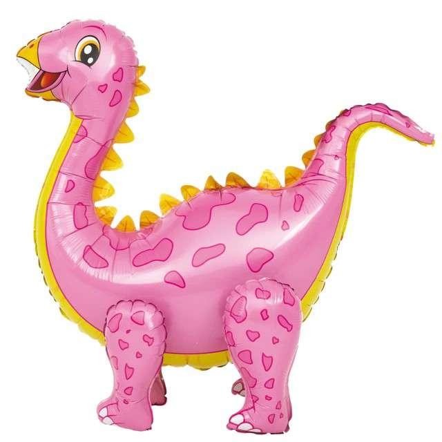 "Balon foliowy 3D ""Dinozaur różowy"", PartyPal, 35"" SHP"