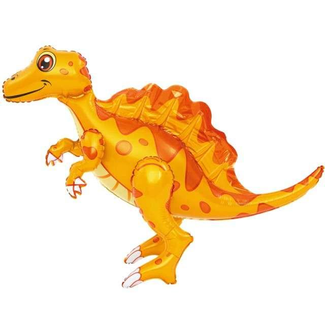 "Balon foliowy 3D ""Spinozaur pomarańczowy"", PartyPal, 30"" SHP"