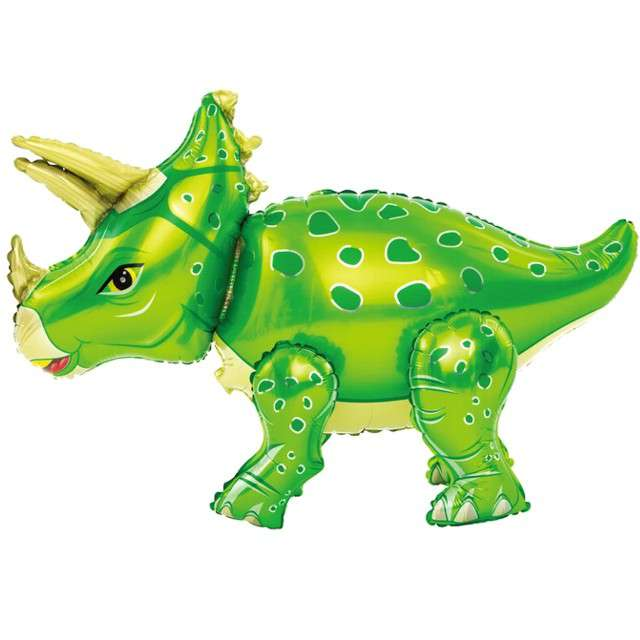 "Balon foliowy 3D ""Triceratops zielony"", PartyPal, 35"" SHP"