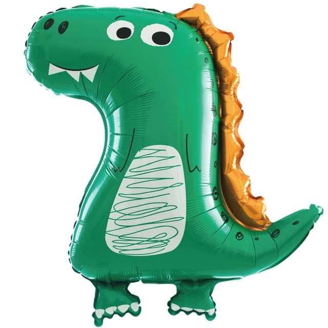 """Balon foliowy """"Dinozaur - zielony smok"""", PartyPal, 29"""" SHP"""