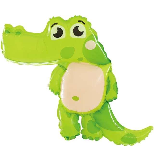 """Balon foliowy """"Stojąca Krokodyl"""", PartyPal, 25"""" SHP"""