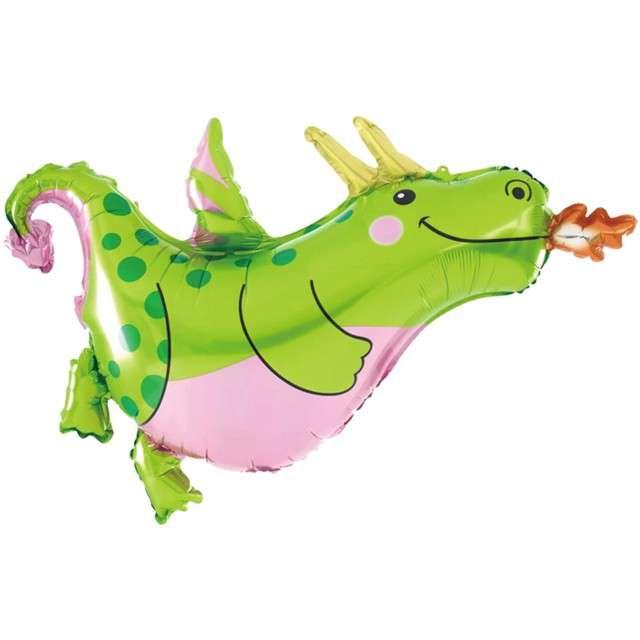 """Balon foliowy """"Dinozaur - smok w fartuchu"""", PartyPal, 35"""" SHP"""