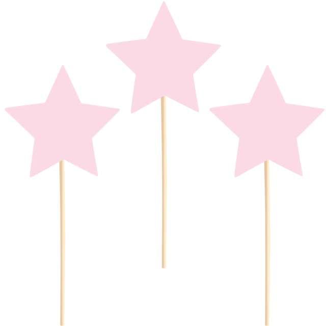 Pikery Gwiazdki różowe PartyPal 6 szt