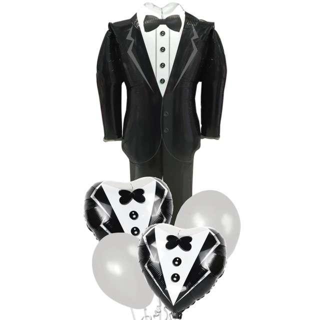 "Zestaw balonów ""Garnitur Pana Młodego:, mix, PartyPal, 30"" SHP"