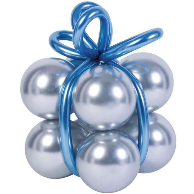 Balony Zestaw - prezent srebrne PartyPal 8 szt