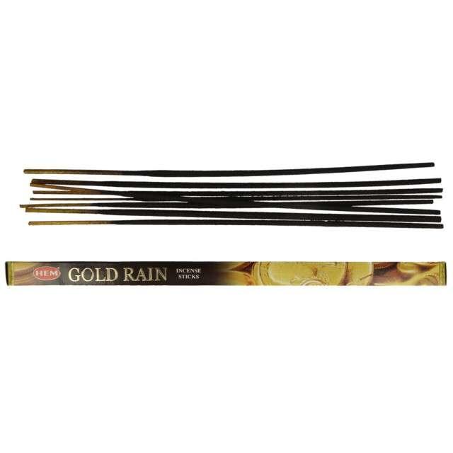Kadzidełka indyjskie Zapach - Gold rain długie Ravi 8szt