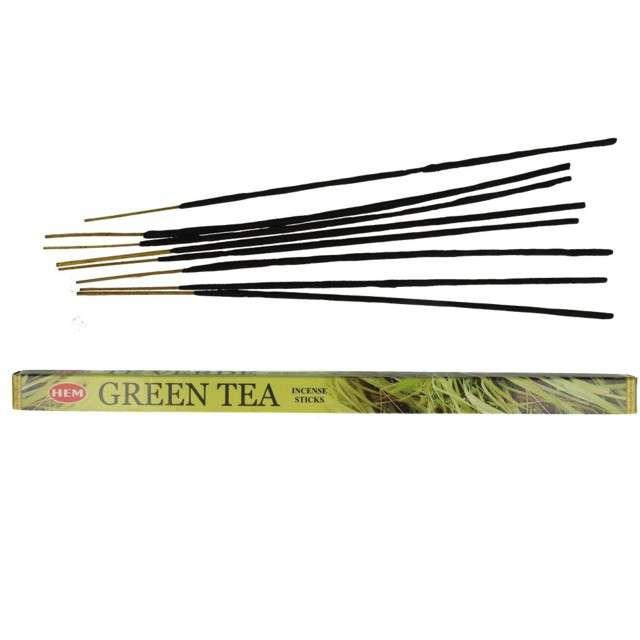 Kadzidełka indyjskie Zapach - green tea długie Ravi 8szt