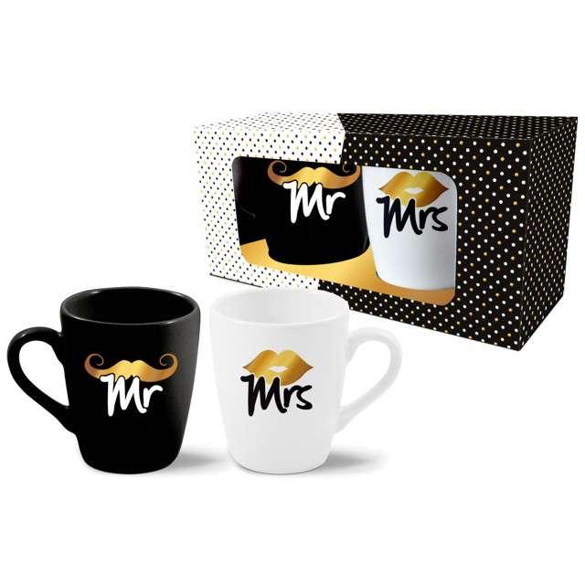Zestaw kubków MR i MRS biało-czarny BGtech 300 ml