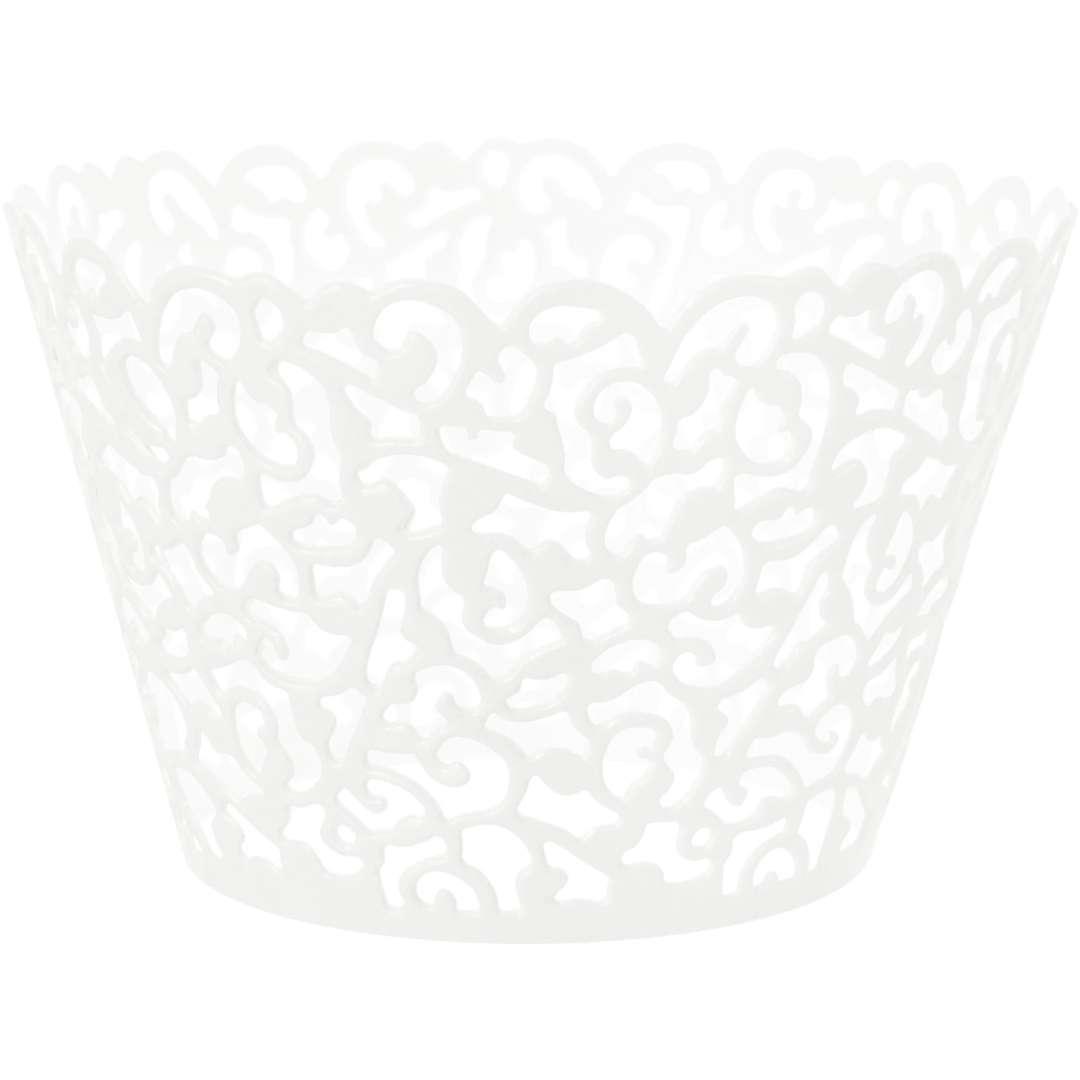 """Foremki na muffinki """"Koronka"""", białe, PartyPal, 10 szt"""