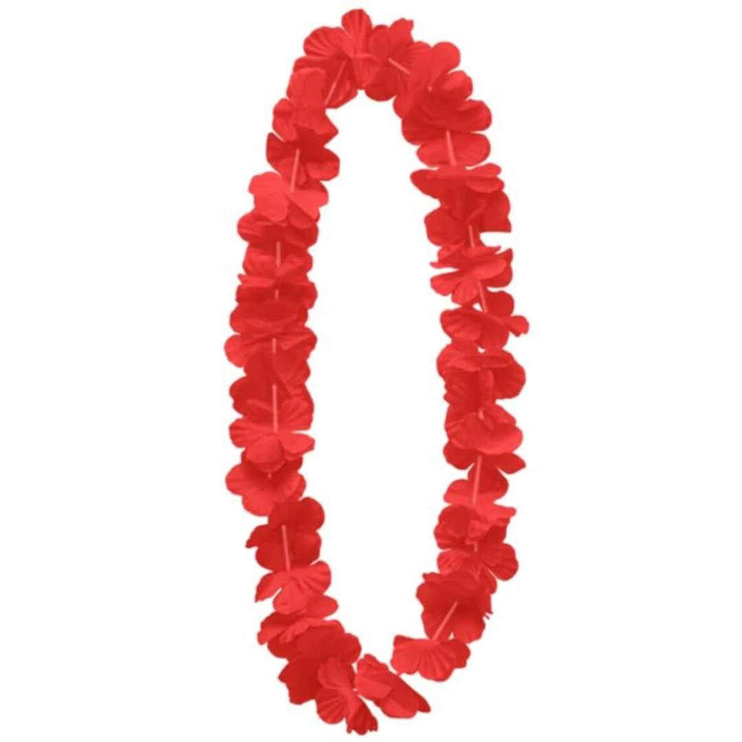 """Naszyjnik hawajski """"Kwiaty"""", czerwony, PartyPal, 100 cm"""