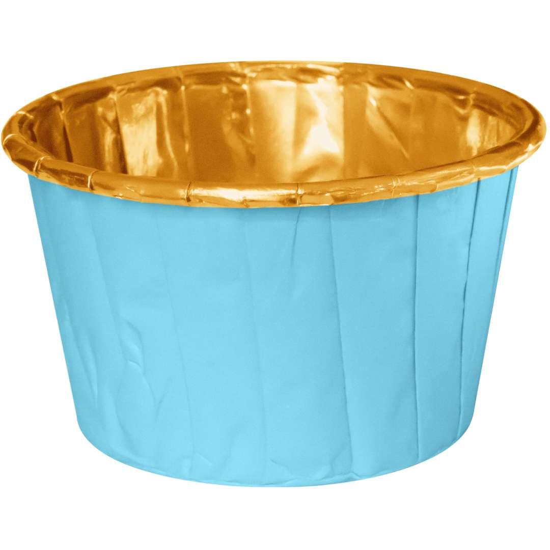 Foremki na muffinki Pozłacane błękitne PartyPal 20 szt