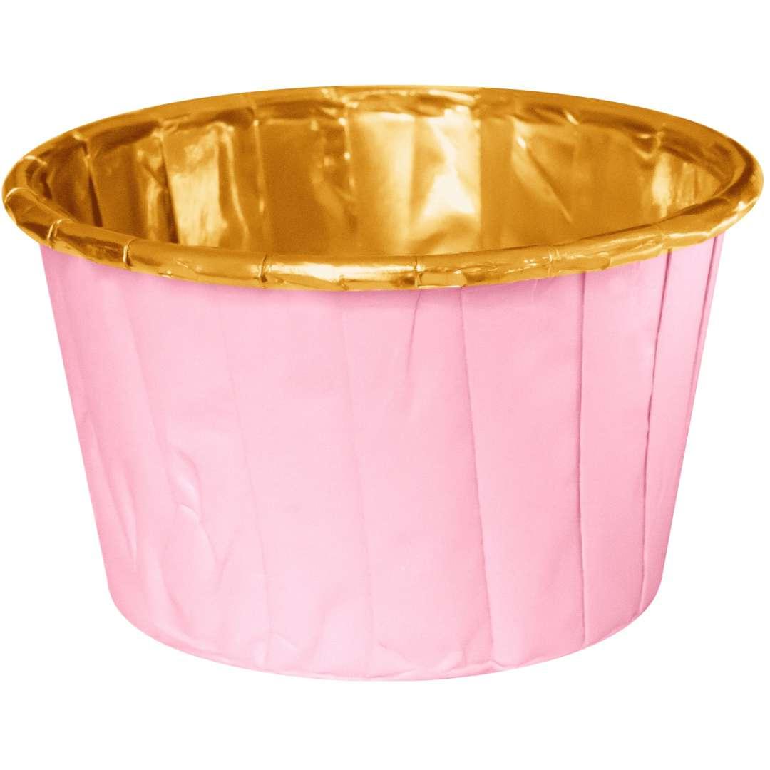 """Foremki na muffinki """"Pozłacane"""", różowe, PartyPal, 20 szt"""
