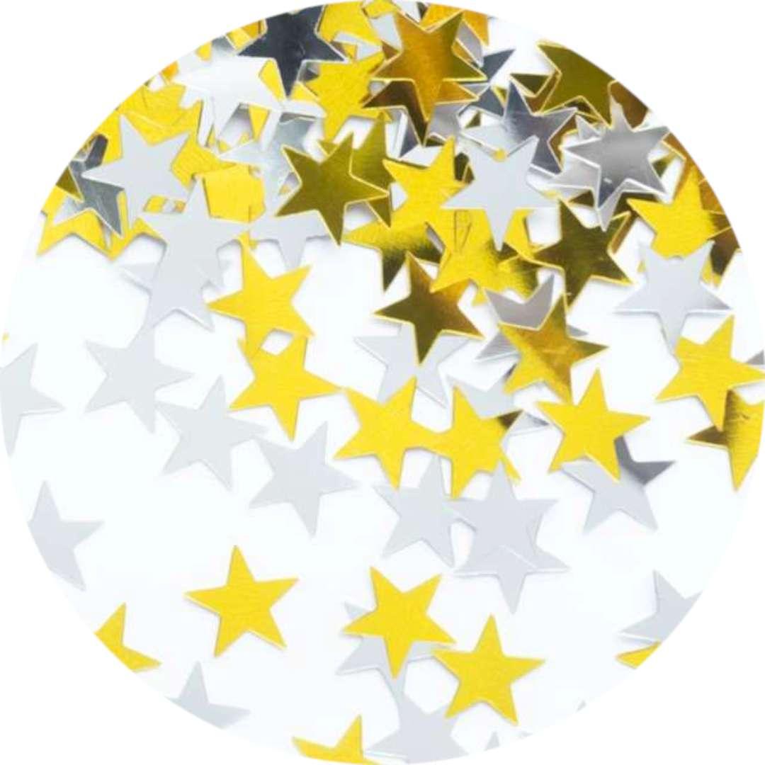 "Konfetti ""Milion gwiazd"", złote i srebrne, PartyPal, 15 g"