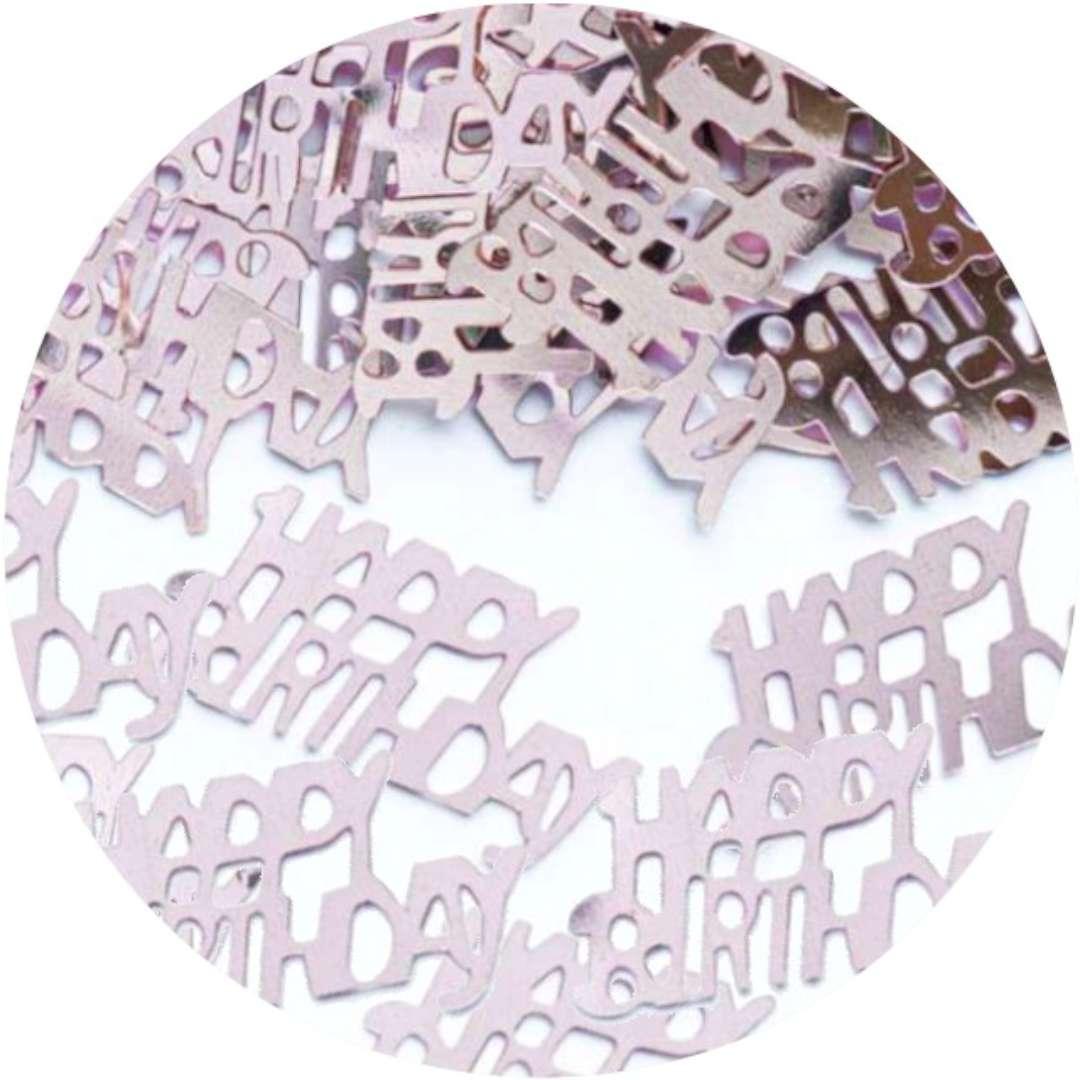 """Konfetti """"Happy Birthday"""", złoty róż, PartyPal, 15 g"""