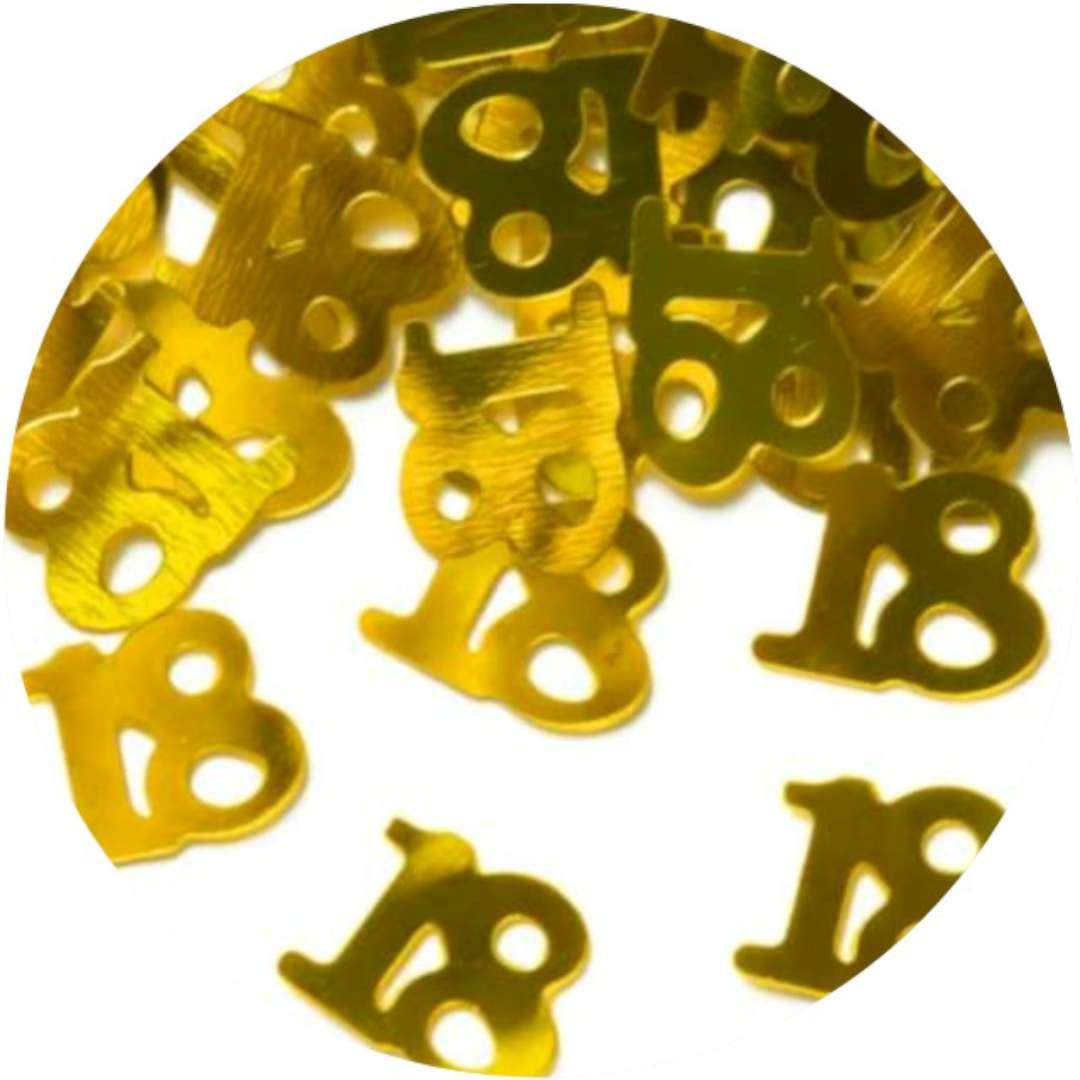 Konfetti 18 urodziny złote PartyPal 15 g