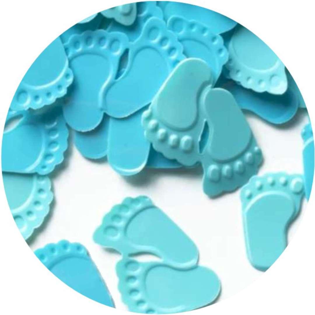 "Konfetti ""Baby Shower - błękitne stópki"", PartyPal, 15 g"