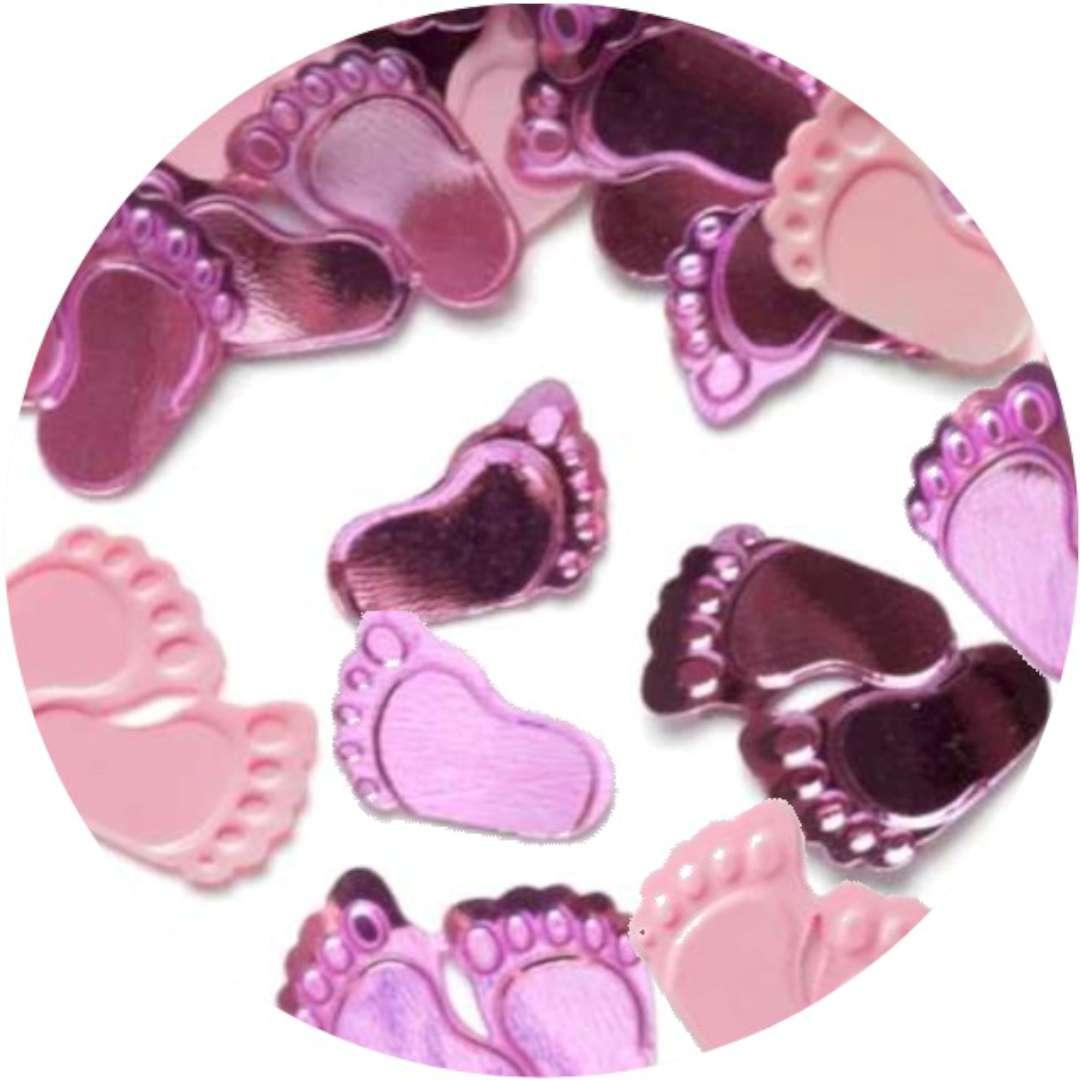 """Konfetti """"Baby Shower - różowe stópki"""", PartyPal, 15 g"""