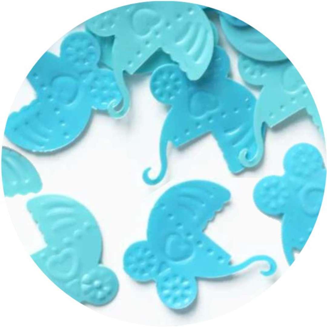 """Konfetti """"Baby Shower - błękitne wózki"""", PartyPal, 15 g"""