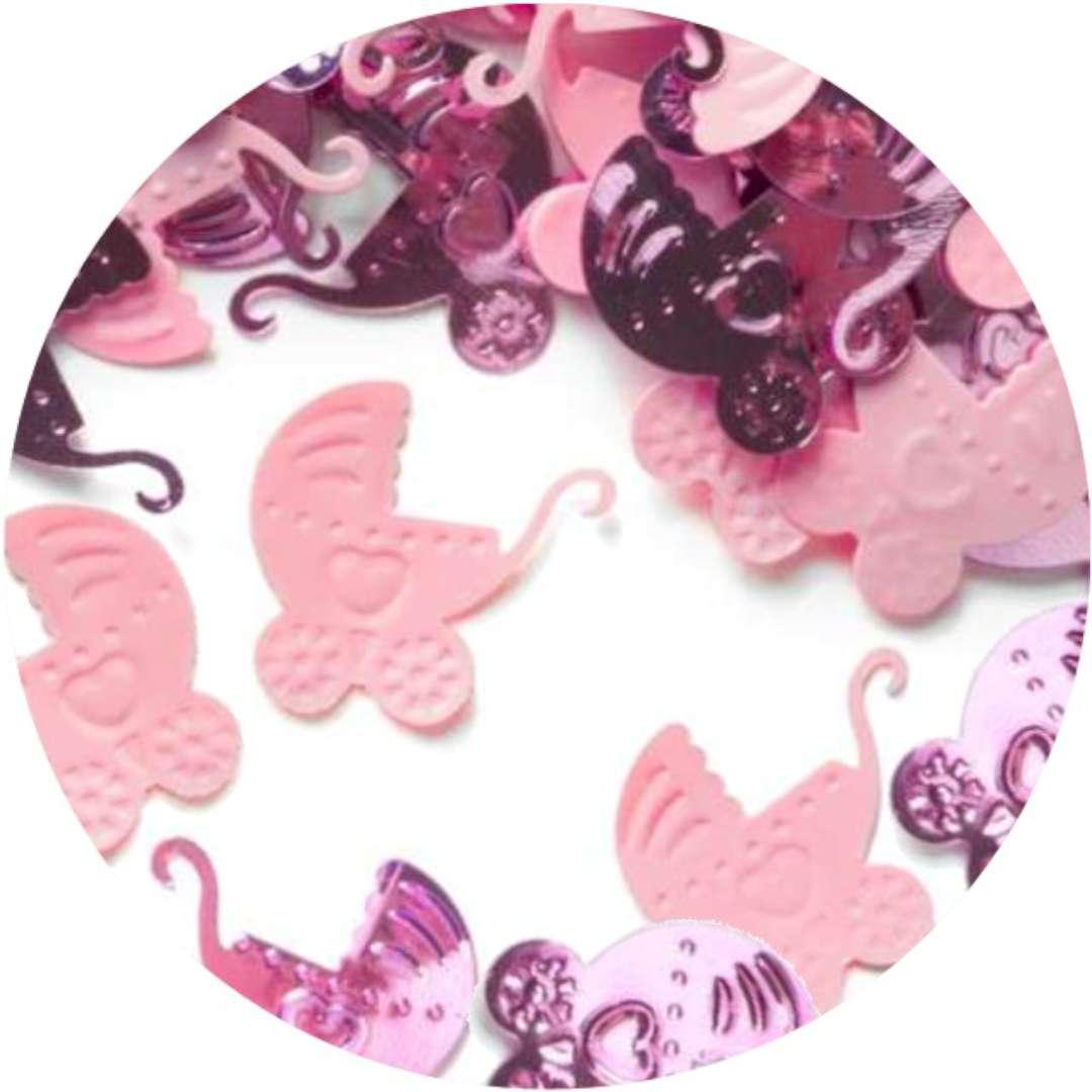 """Konfetti """"Baby Shower - różowe wózki"""", PartyPal, 15 g"""