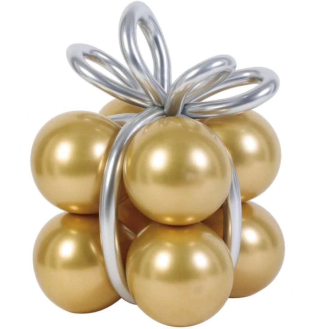 Balony Zestaw - prezent złote PartyPal 8 szt