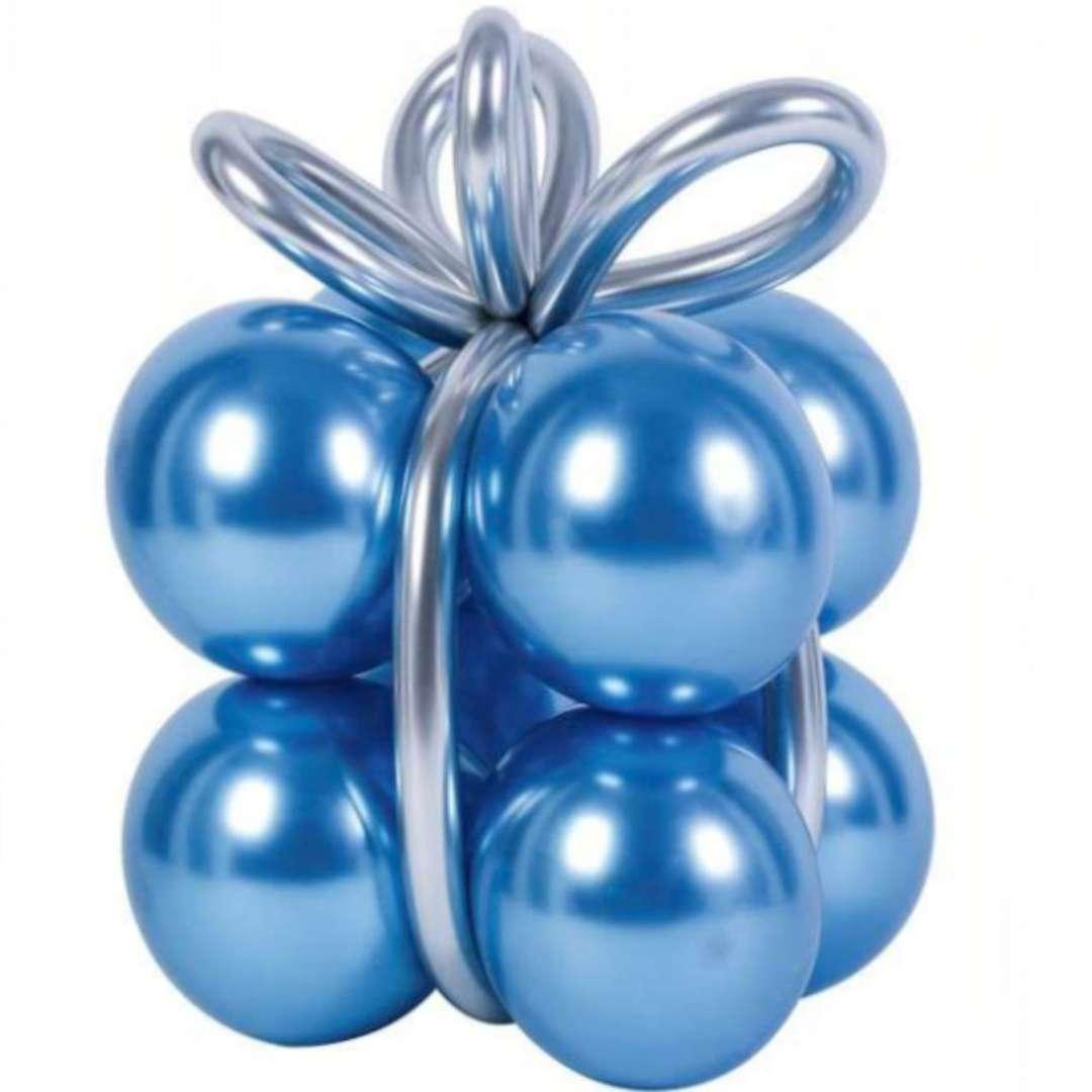 """Balony """"Zestaw - prezent"""", niebieskie, PartyPal, 8 szt"""